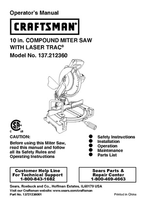 Craftsman 10 in. COMPOUND MITER SAW.pdf