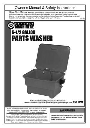 Central Machinery 6 gallon Parts Washer.pdf