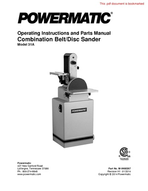 Powermatic Belt Disc sander 31A.pdf