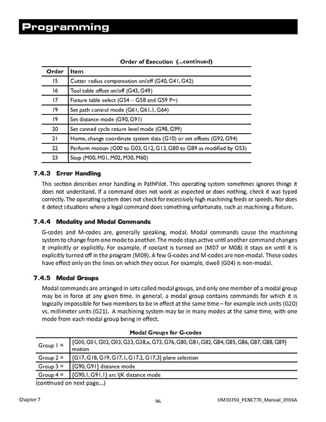 Tormach PCNC 770 Operator Manual
