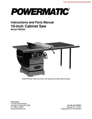 Powermatic 10 inch Table Saw PM2000.pdf
