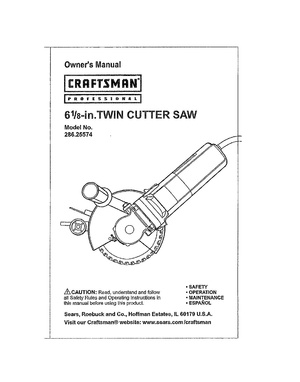 Craftsman 6.125 inch twin cutter circular saw.pdf