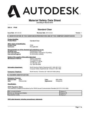 PR48 Standard Clear Photopolymer resin MSDS.pdf