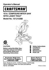 File:Craftsman 10 in. COMPOUND MITER SAW.pdf - makerspace.tulane.edu