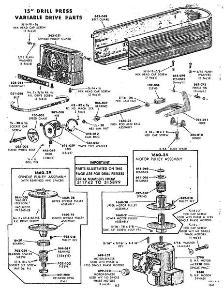 Clausing drill press parts manual